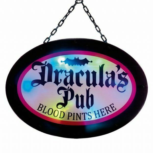Halloween Dracula's Pub Sign 47cm